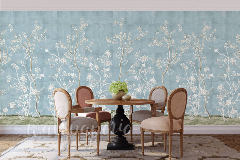 Giverny Mural  | French Moire