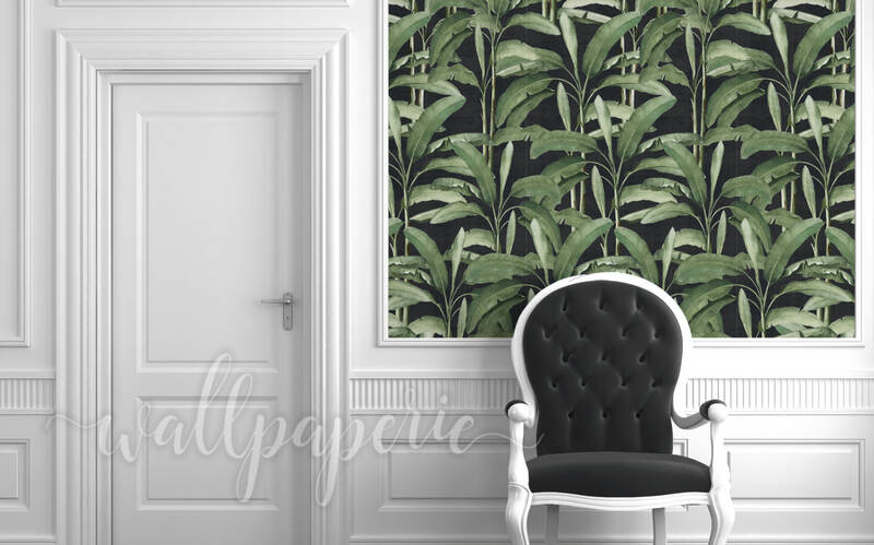 Tropical Leaves | Ebony