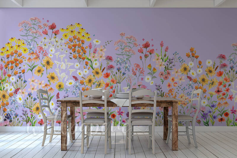 Wildflower Mural | Lilac